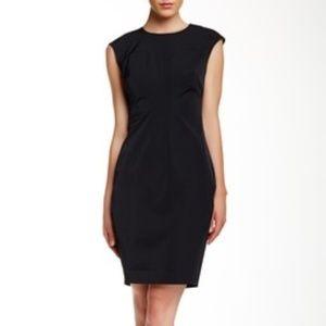 Ted Baker Black Seam Sleeveless Back Zip Dress
